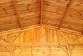 Roof structure interior view of a wooden and wall Royalty Free Stock Photo