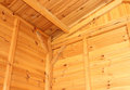Roof structure interior view of wooden and wall Royalty Free Stock Photo