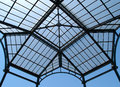 Roof structure metal in a market greece Stock Photography