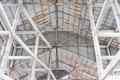 Roof structures made of steel Royalty Free Stock Image