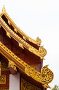 Roof of temple thai in a cloudy day Royalty Free Stock Images