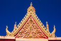 Roof temple in thailand with the psychological and social Stock Photo