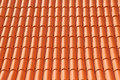 Roof texture tile abstract background of orange clay Stock Photo
