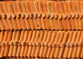 Roof tile arraged pattern backgroud Stock Photo
