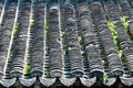 The roof of the tile chinese traditional old building tiles on a Royalty Free Stock Image