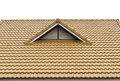Roof tile and gable vents Royalty Free Stock Photography