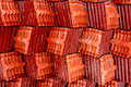 Roof tile stack of thai temple in thainland Royalty Free Stock Photography