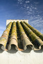 Roof tiles. Fortress in Carmona. Stock Image