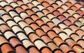 Roof tiles on a mediterranean building Stock Image