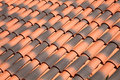 Roof tiles old orange red background Royalty Free Stock Photography