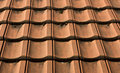 Roof tiles red completely laid also be used as background Stock Photo