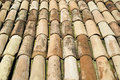 Roof tiles rows of of baked earth of a Royalty Free Stock Image