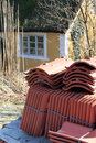 Roof tiles thatch Royalty Free Stock Photography