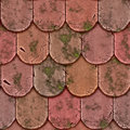 Roof tiles tiled shingles Stock Photos