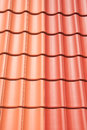 Roof tiling red and orange Stock Photography