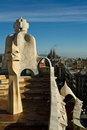 Roof top of La Pedrera-Casa Milla, Barcelona Stock Image