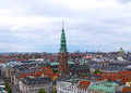 Roof tops of Copenhagen, Denmark. Royalty Free Stock Photo