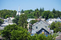 Roof tops martha s vineyard a view of the buildings in martha's on july martha's is a popular island off cape cod in Royalty Free Stock Images