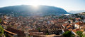Roof tops of the old town Kotor. Royalty Free Stock Photo