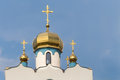 Roof and tower of an orthodox church Royalty Free Stock Photo