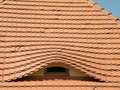 Roof with window Royalty Free Stock Photo