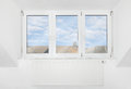 Roof window mansard apartment loft Royalty Free Stock Image