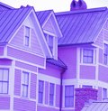 Roof and window, Purple house Royalty Free Stock Photo