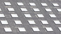 Roof window square cells Royalty Free Stock Photo