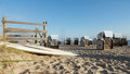 Roofed wicker beach chair on the baltic sea germany Stock Image