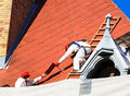 Roofers are working Royalty Free Stock Photo