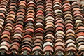 Roofing material used days gone makes interesting pattern Stock Photo