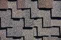 Roofing Shingles dark wood shake style pattern Royalty Free Stock Photo
