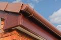 Roofline PVCU Soffit fascia board Stock Photo