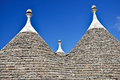 Roofs in Alberobello Stock Photos