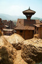 Roofs of Baktaphur city, Nepal Royalty Free Stock Photo