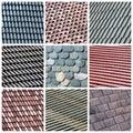 Roofs Collage Stockfotografie