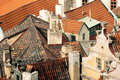 Roofs downtown Prague, Czech Republic, Europe Royalty Free Stock Photography