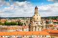 Roofs of Dresden and Frauenkirche Royalty Free Stock Photo