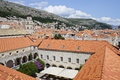 Roofs of dubrovnic croatia historic part Royalty Free Stock Photo