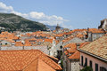 Roofs of dubrovnic croatia historic part Stock Photography