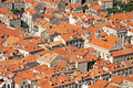 Roofs in Dubrovnik Stock Photo