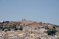 Roofs of Fez and roman remains Royalty Free Stock Photo