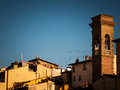 Roofs of florence against dark blue sky Royalty Free Stock Photo