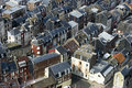 Roofs of houses in a city in normandy Royalty Free Stock Image