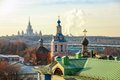 The roofs moscow in autumn Stock Photography