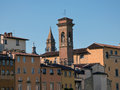 Roofs old buildings in florence italy Royalty Free Stock Images