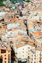 Roofs of old catalan town cardona catalonia Royalty Free Stock Photos