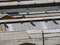 Roofs of old factories and warehouses Royalty Free Stock Photos