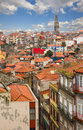 Roofs of old town porto red tiled portugal Royalty Free Stock Photos