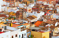 Roofs of ordinary spanish town sagunto valencian community Royalty Free Stock Photo